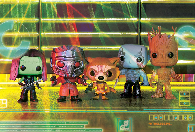 World of Pop! Book Volume 3, Guardians of the Galaxy Pop's funko!