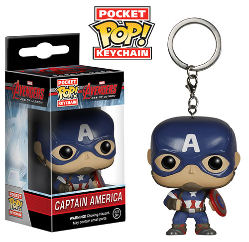 Pocket Pop Captain America Keychain. Avengers Age of Ultron Funko.