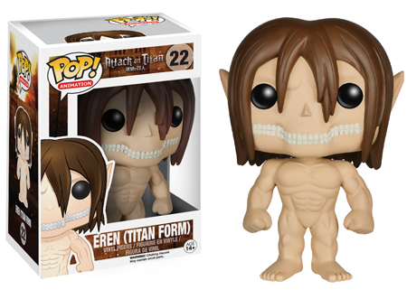 Funko POP! Animation: Attack on Titan Eren Titan Form figure.
