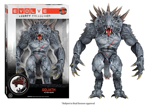 Evolve: The Legacy Collection Goliath action figure.