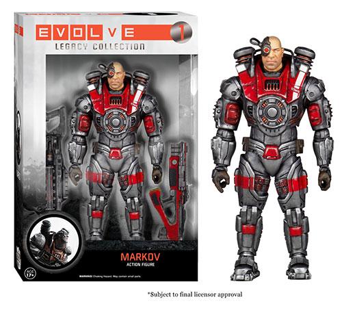 Evolve: Legacy Collection Markov action figure.