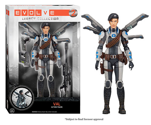 Evolve: The Legacy Collection Val action figure.