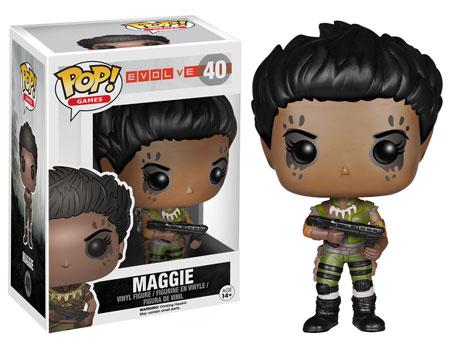 Evolve Pop! Funko Maggie figure.