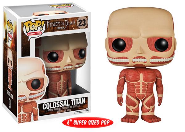 Funko POP! Animation: Attack on Titan Colossal Titan figure.
