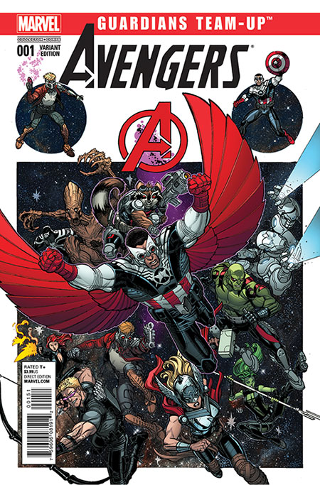 marvel collector corp Marvel Guardians Team Up Avengers Variant Comic Cover