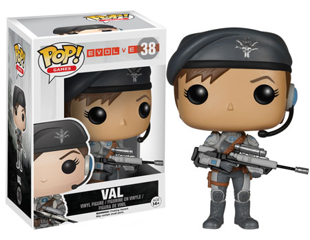 Evolve Pop! Funko Val figure.