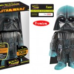 Hikari Sofubi Lightning Darth Vader, Boba Fett, and Greedo Figures