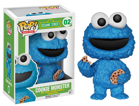 Cookie Monster Pop! Funko vinyl figure and toy.