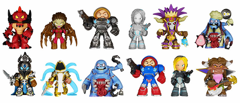 Blizzard Heroes of the Storm Mystery Minis characters.