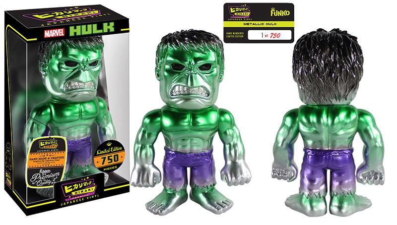 Entertainment Earth Metallic Hulk Hikari Premium Sofubi Figure