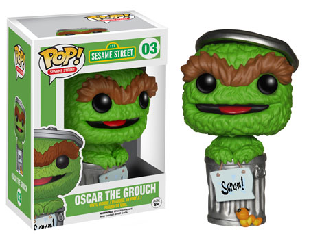 Pop! Funko Oscar The Grouch vinyl figure.