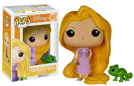 Disney Rapunzel and Pascal Funko Pop Vinyl figures.