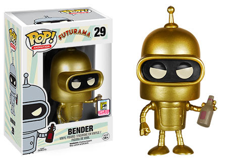 Funko Pop Animation Futurama Gold Bender vinyl figure