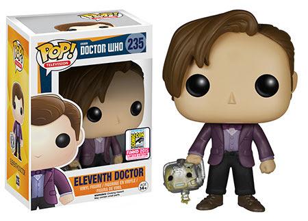 Funko Pop! Doctor Who Eleventh Doctor holding Cyberman head.