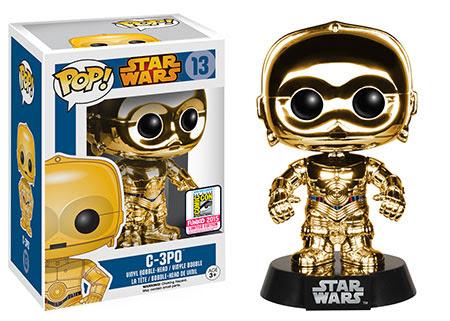 Funko Pop Star Wars Chrome C3PO Gold vinyl figure