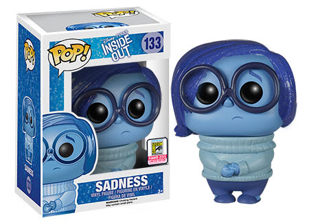 Funko Pop Vinyl figure Disney Pixar Inside Out Sadness Glitter hair exclusive at SDCC