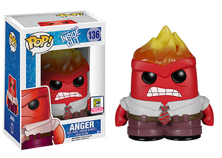 Pop! Disney:Pixar- Inside Out – Flamehead Anger Funko SDCC