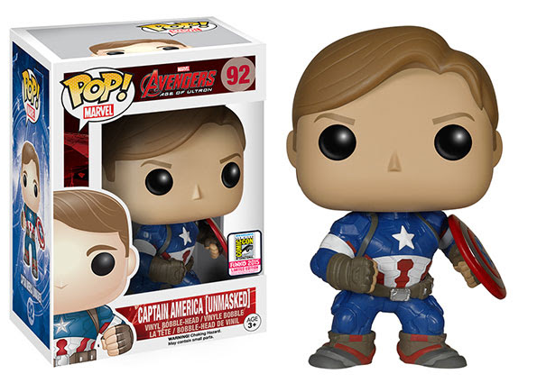 Pop! Marvel- Avengers- Age of Ultron - Captain American Unmasked SDCC Exclusive