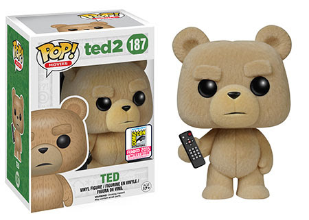 Pop! Movies- Ted 2 – Flocked Ted Funko SDCC