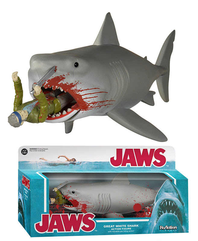 ReAction Jaws Bloody Quint and Shark