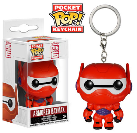 Funko Armored Baymax Big Hero 6 Pocket Pop Keychain