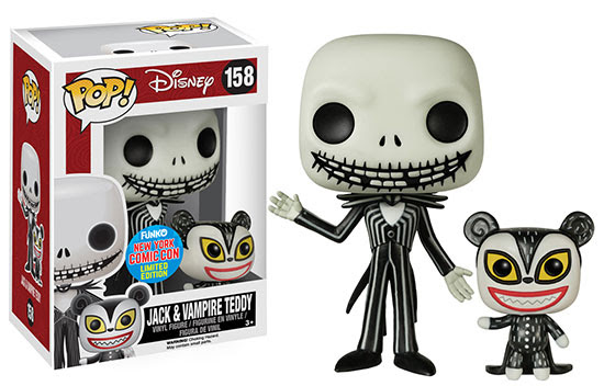 Funko Pop Jack and Vampire Teddy vinyl figures