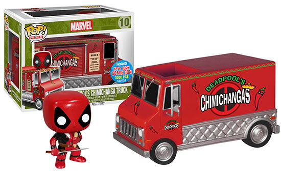 Funko Pop Rides Deadpool's Red Chimichanga Truck NYCC exclusive