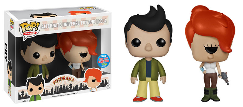 Pop TV Futurama Alternate Universe Fry & Leela 2 Pack