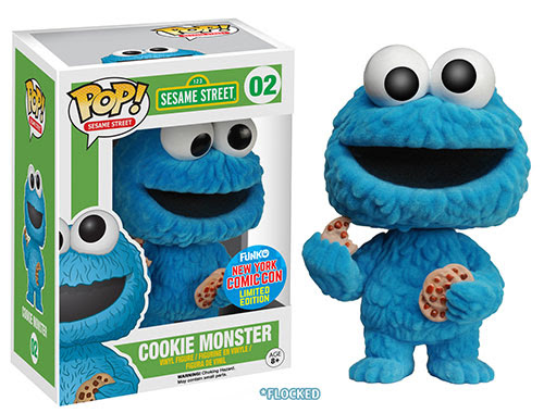 Pop TV Sesame Street Flocked Cookie Monster