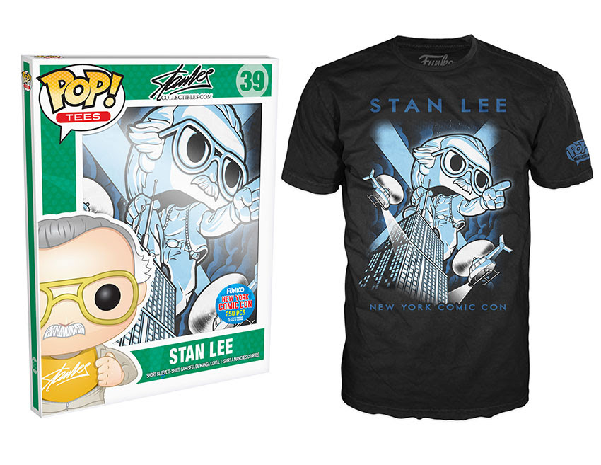 Pop! Tees- Stan Lee - Stan on Empire State Building