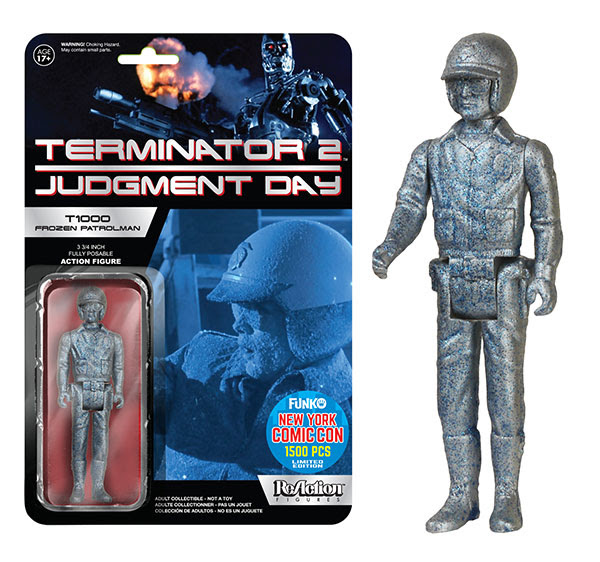 ReAction- Terminator 2 - T1000 Frozen Patrolman figure.