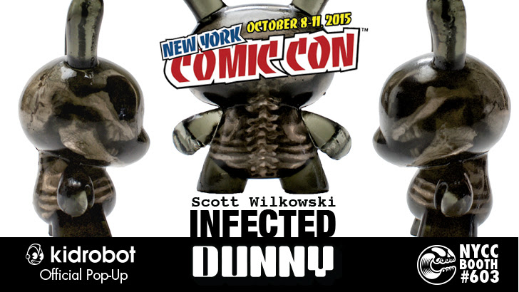 Kidrobot Scott Wilkowski Infected Dunny New York Comic Con exclusive