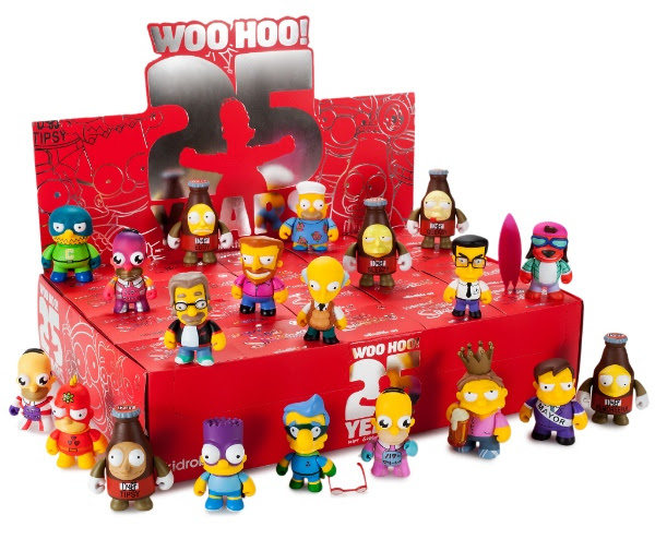 Kidrobot The Simpsons 25th Anniversary Mini Series vinyl figures