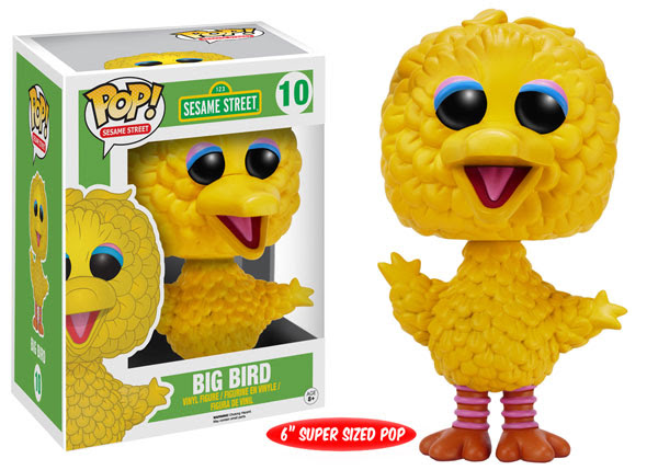 Sesame Street Wave 2 Funko Pop! Vinyl figure Big Bird 6 inch super sized toy