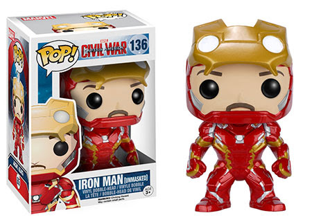 Captain America Civil War Funko vinyl figure Iron Man Unmasked