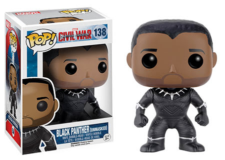 Captain America Civil War Funko vinyl figure Walgreens Exclusive Black Panther Unmasked